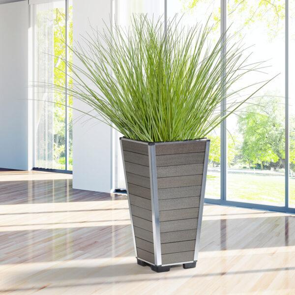 Gartenfreude Pflanzkübel aus WPC, pflegeleicht und elegant