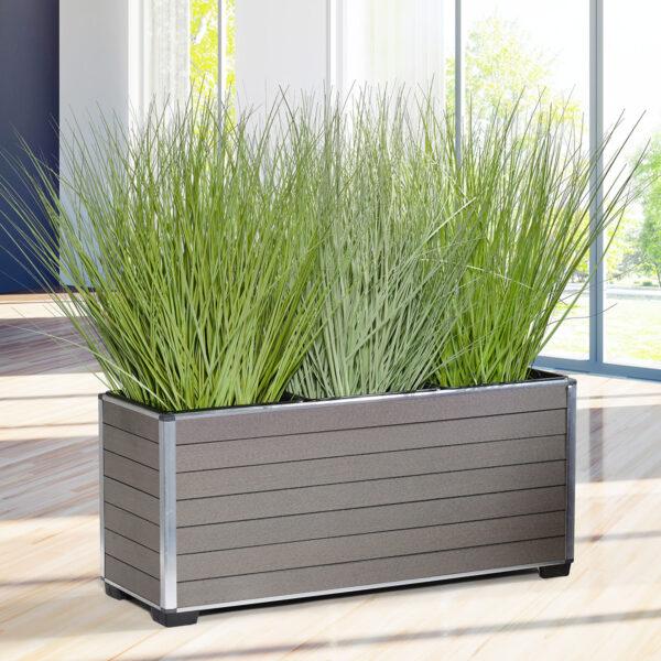 Gartenfreude Pflanzkübel / Raumteiler aus WPC, pflegeleicht und elegant