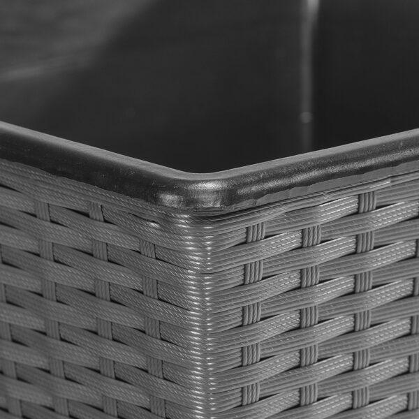 GARTENFREUDE Pflanzkübel Polyrattan 2er Set