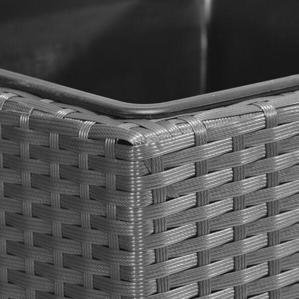 GARTENFREUDE Pflanzkübel Raumteiler Polyrattan