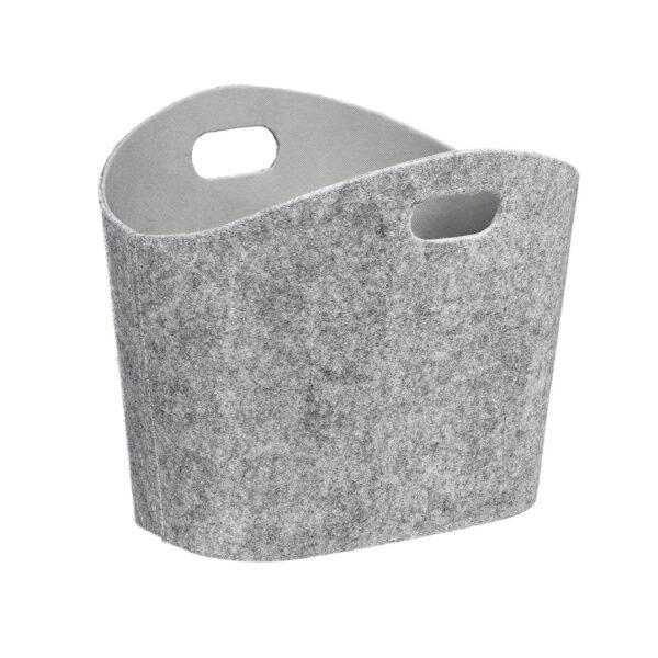 Filztasche für den Wohnbereich hellgrau
