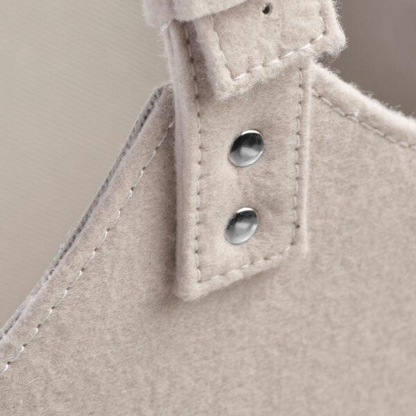 Filztasche für den Wohnbereich, Detail