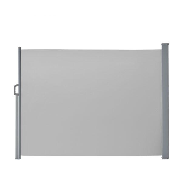 Seitenmarkise / Sichtschutz aus Polyester, Gestell aus pulverbeschichtetem Stahl