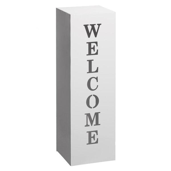 Dekosäule Welcome