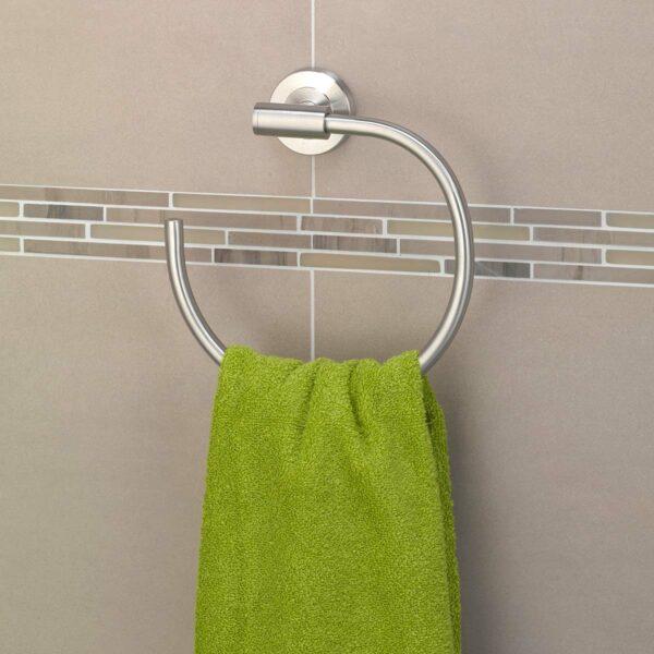 AMARE Handtuchhalter Ring aus Edelstahl