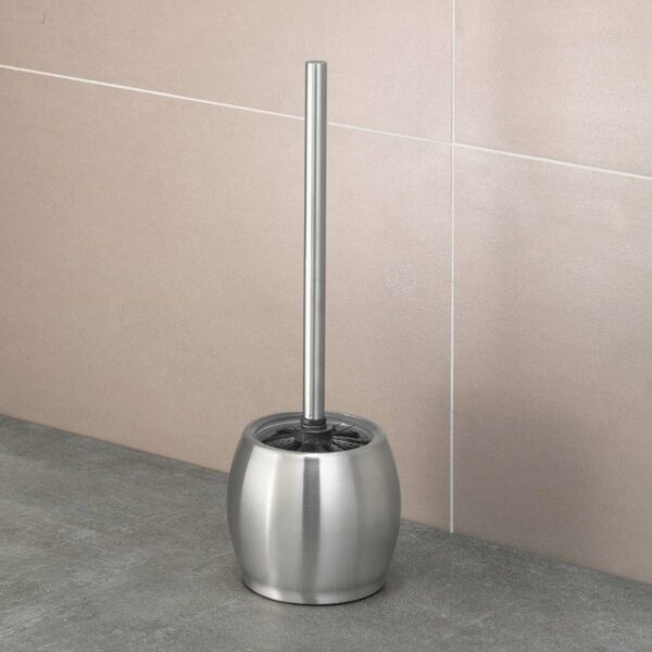 AMARE Toilettenbürse mit Edelstahlvase – rund