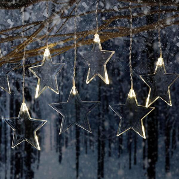AMARE LED Acrylvorhang Sterne