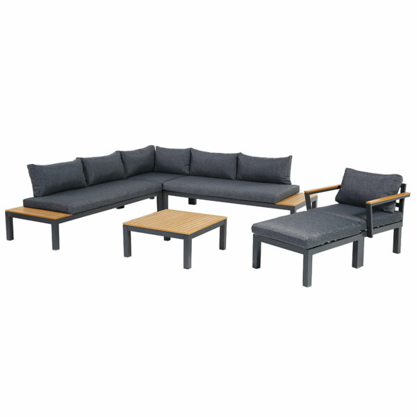 Ambience Lounge Gruppe mit Ecksitz, Sessel & Hocker