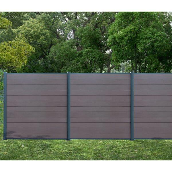 Gartenfreude WPC-Zaun Aufbaubeispiel