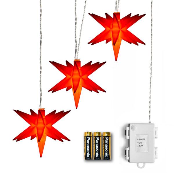AMARE LED 3er Sternenlichterkette