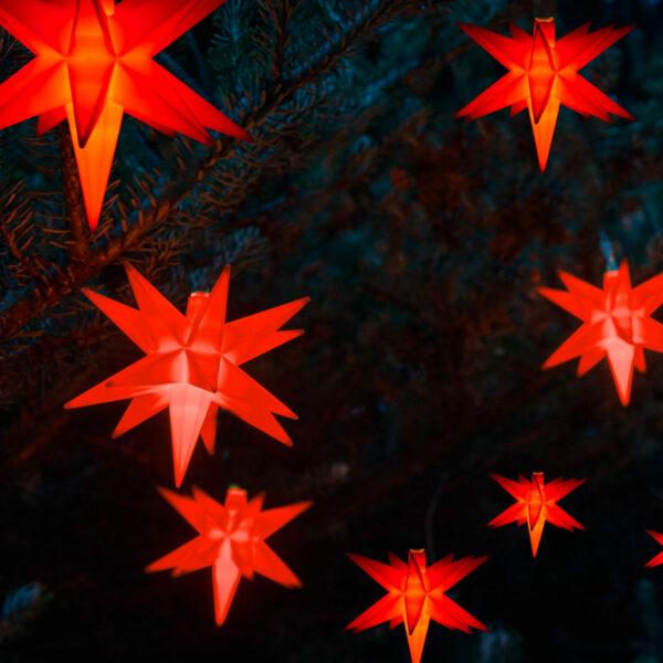 Amare LED-Stern Lichterkette rot