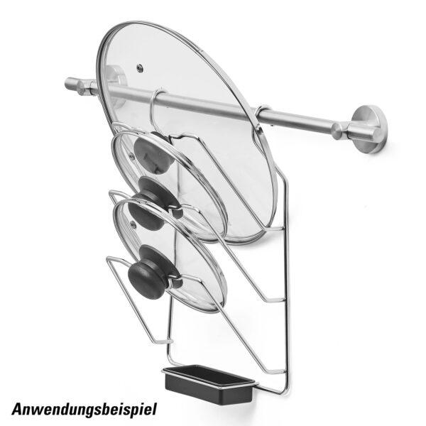 AMARE Küchenrollenhalter + Topfdeckelhalter aus Edelstahl