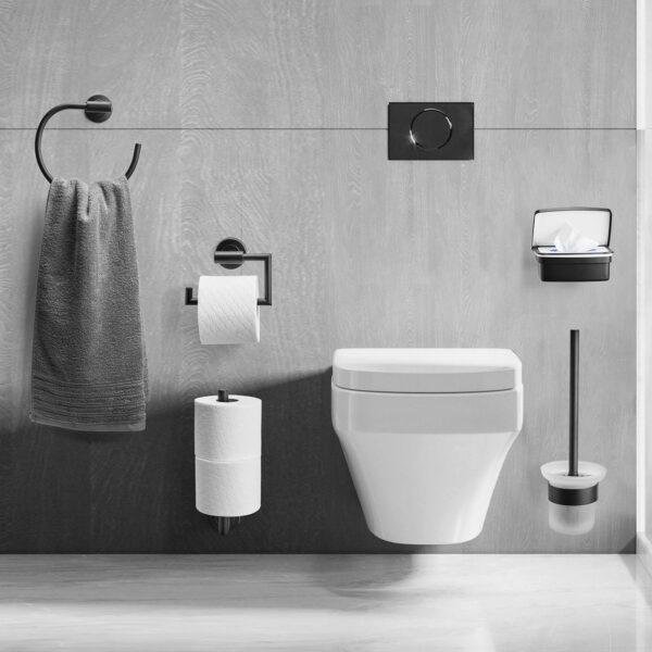 AMARE Toilettenpapierrollenhalter mit Absenkdämpfung