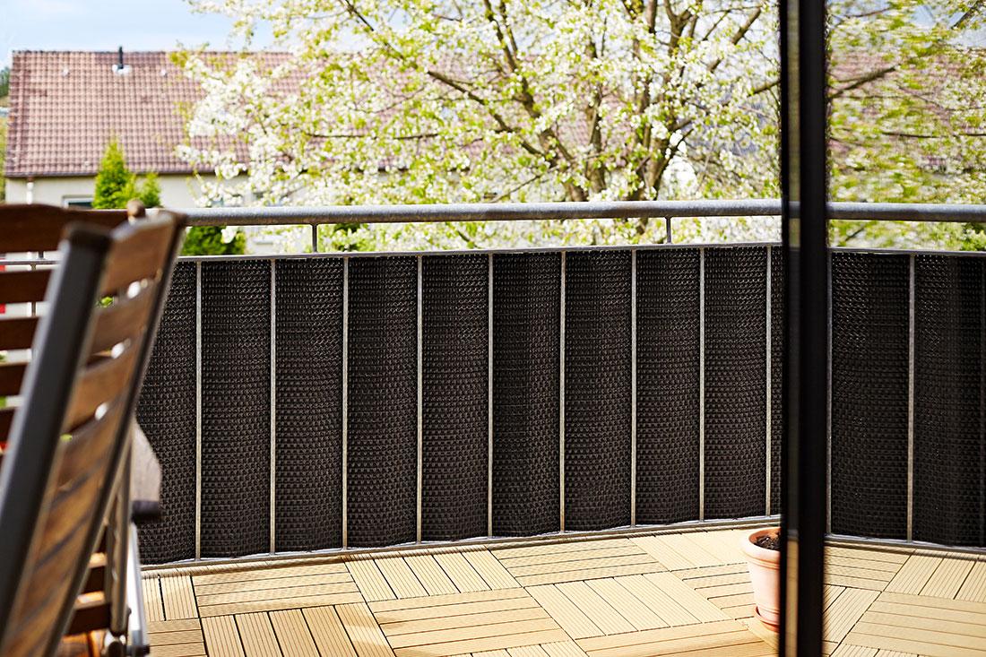 Gartenfreude Polyrattan Sichtschutz Fur Balkon Zaun 5 X 0 75 M